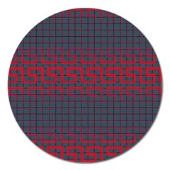 Abstract Tiling Pattern Background Magnet 5  (round) by Simbadda