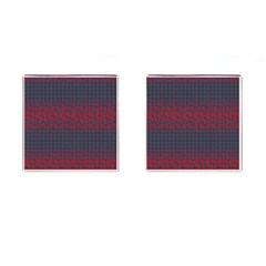 Abstract Tiling Pattern Background Cufflinks (square) by Simbadda