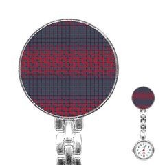 Abstract Tiling Pattern Background Stainless Steel Nurses Watch by Simbadda