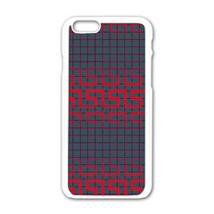 Abstract Tiling Pattern Background Apple Iphone 6/6s White Enamel Case by Simbadda