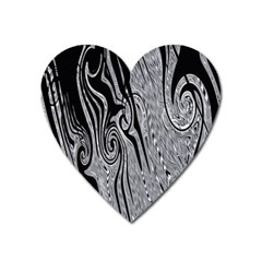 Abstract Swirling Pattern Background Wallpaper Heart Magnet by Simbadda