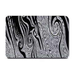 Abstract Swirling Pattern Background Wallpaper Small Doormat  by Simbadda