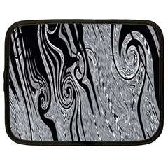 Abstract Swirling Pattern Background Wallpaper Netbook Case (large)