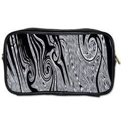 Abstract Swirling Pattern Background Wallpaper Toiletries Bags 2 Side by Simbadda