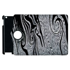 Abstract Swirling Pattern Background Wallpaper Apple Ipad 2 Flip 360 Case by Simbadda