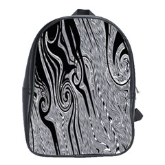 Abstract Swirling Pattern Background Wallpaper School Bags (xl)  by Simbadda