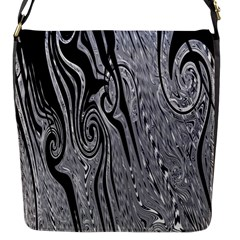 Abstract Swirling Pattern Background Wallpaper Flap Messenger Bag (s) by Simbadda
