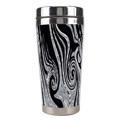 Abstract Swirling Pattern Background Wallpaper Stainless Steel Travel Tumblers by Simbadda