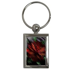 Abstract Green And Red Background Key Chains (rectangle)  by Simbadda