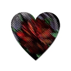 Abstract Green And Red Background Heart Magnet by Simbadda