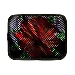 Abstract Green And Red Background Netbook Case (small)  by Simbadda