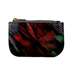 Abstract Green And Red Background Mini Coin Purses