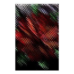 Abstract Green And Red Background Shower Curtain 48  X 72  (small)  by Simbadda