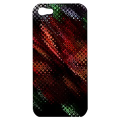Abstract Green And Red Background Apple Iphone 5 Hardshell Case by Simbadda
