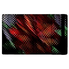 Abstract Green And Red Background Apple Ipad 2 Flip Case by Simbadda
