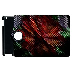 Abstract Green And Red Background Apple Ipad 2 Flip 360 Case by Simbadda
