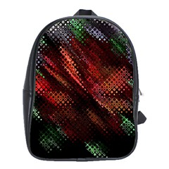 Abstract Green And Red Background School Bags (xl)  by Simbadda