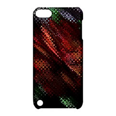 Abstract Green And Red Background Apple Ipod Touch 5 Hardshell Case With Stand by Simbadda