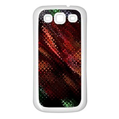 Abstract Green And Red Background Samsung Galaxy S3 Back Case (white) by Simbadda