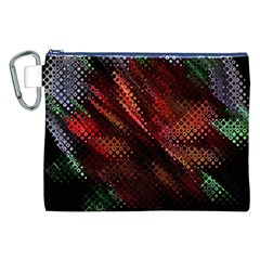 Abstract Green And Red Background Canvas Cosmetic Bag (xxl) by Simbadda