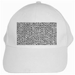 Abstract Knots Background Design Pattern White Cap by Simbadda