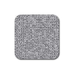 Abstract Knots Background Design Pattern Rubber Square Coaster (4 Pack)  by Simbadda