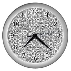 Abstract Knots Background Design Pattern Wall Clocks (silver)