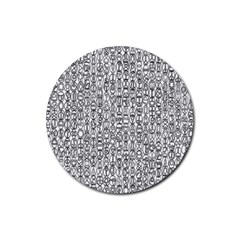 Abstract Knots Background Design Pattern Rubber Coaster (round)  by Simbadda