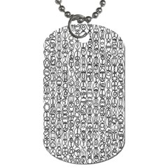 Abstract Knots Background Design Pattern Dog Tag (two Sides) by Simbadda