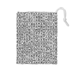 Abstract Knots Background Design Pattern Drawstring Pouches (large)  by Simbadda