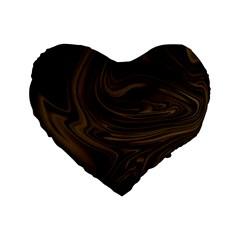 Abstract Art Standard 16  Premium Flano Heart Shape Cushions by Simbadda