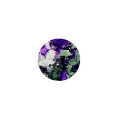 Background Abstract With Green And Purple Hues 1  Mini Magnets by Simbadda