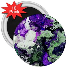 Background Abstract With Green And Purple Hues 3  Magnets (10 Pack)  by Simbadda