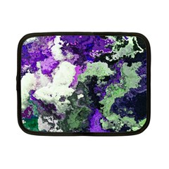 Background Abstract With Green And Purple Hues Netbook Case (small)  by Simbadda