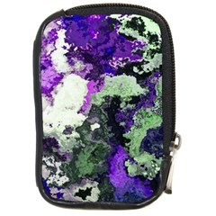 Background Abstract With Green And Purple Hues Compact Camera Cases by Simbadda