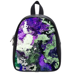 Background Abstract With Green And Purple Hues School Bags (small)  by Simbadda