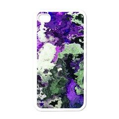 Background Abstract With Green And Purple Hues Apple Iphone 4 Case (white) by Simbadda