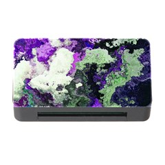 Background Abstract With Green And Purple Hues Memory Card Reader With Cf by Simbadda