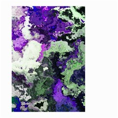 Background Abstract With Green And Purple Hues Small Garden Flag (two Sides) by Simbadda