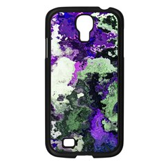 Background Abstract With Green And Purple Hues Samsung Galaxy S4 I9500/ I9505 Case (black) by Simbadda