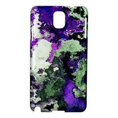 Background Abstract With Green And Purple Hues Samsung Galaxy Note 3 N9005 Hardshell Case by Simbadda
