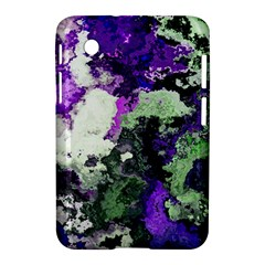 Background Abstract With Green And Purple Hues Samsung Galaxy Tab 2 (7 ) P3100 Hardshell Case  by Simbadda