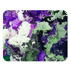 Background Abstract With Green And Purple Hues Double Sided Flano Blanket (large)  by Simbadda