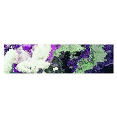 Background Abstract With Green And Purple Hues Satin Scarf (oblong) by Simbadda