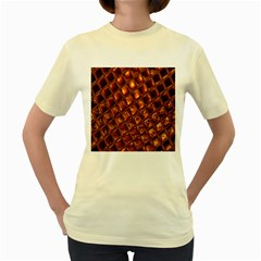 Caramel Honeycomb An Abstract Image Women s Yellow T Shirt