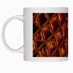 Caramel Honeycomb An Abstract Image White Mugs by Simbadda