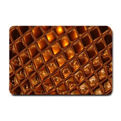 Caramel Honeycomb An Abstract Image Small Doormat  by Simbadda