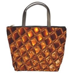 Caramel Honeycomb An Abstract Image Bucket Bags by Simbadda