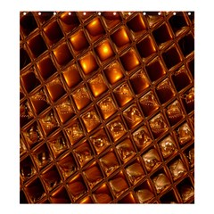 Caramel Honeycomb An Abstract Image Shower Curtain 66  X 72  (large)  by Simbadda