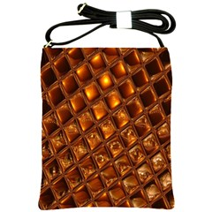 Caramel Honeycomb An Abstract Image Shoulder Sling Bags by Simbadda